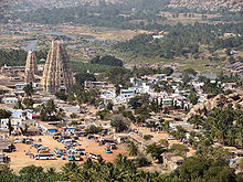 Aerial view of Old Hampi .